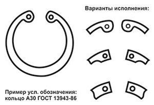 Внутренние стопорные кольца